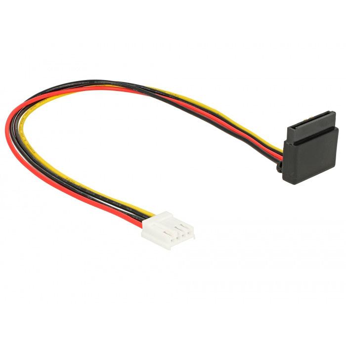 DeLOCK Floppy 4 pin female > SATA 15 pin female kabel