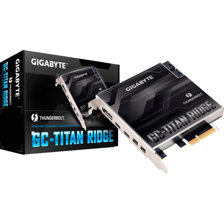 Gigabyte GC-TITAN RIDGE interfacekaart--adapter Intern Mini DisplayPort,DisplayPort,Thunderbolt 3