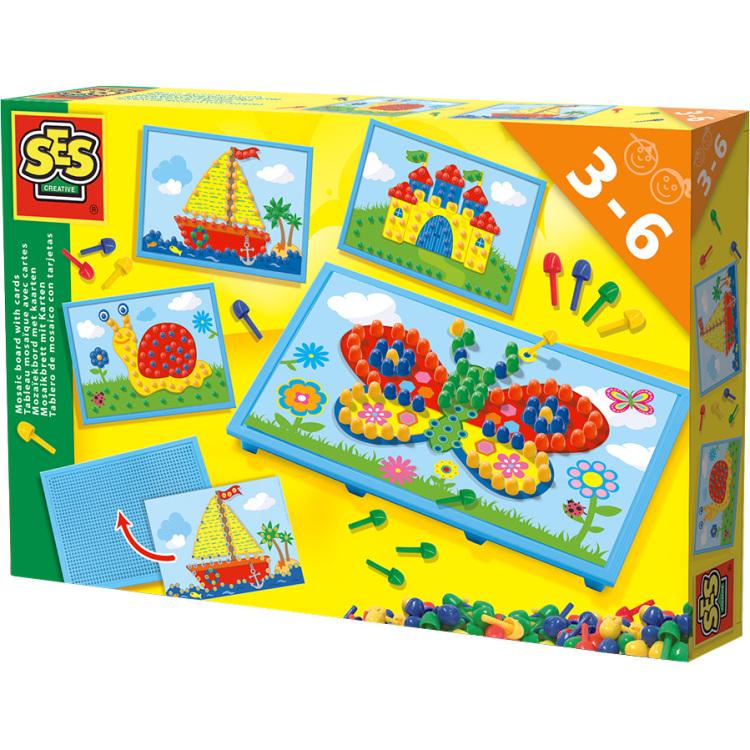 SES Creative Mozaiekbord met kaarten 14898