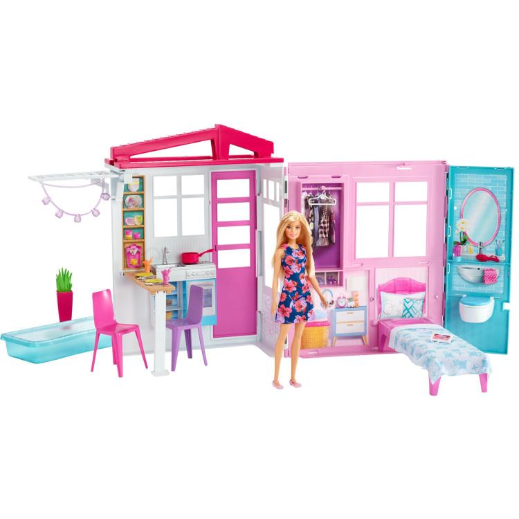 Barbie speelhuis close&go 29x46x13 cm