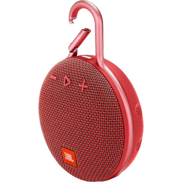 JBL Clip 3 Bluetooth luidspreker Handsfree-functie, Outdoor, Spatwaterdicht Rood