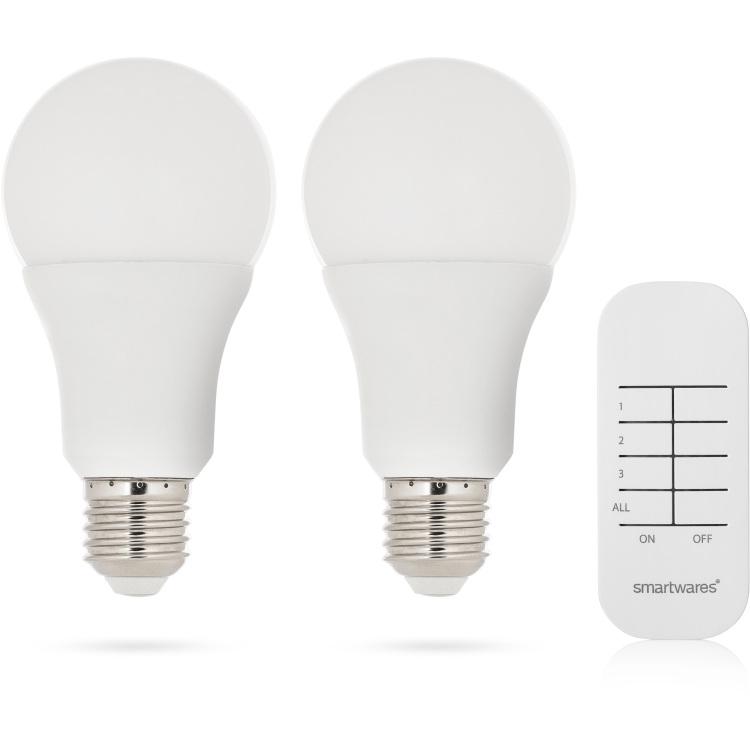 Smartwares dimbare LED bulb schakelaar set SH4-99551