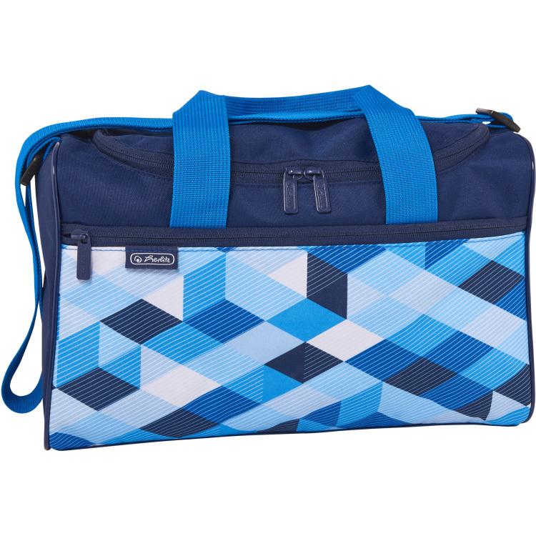 Herlitz Sporttas Blue Cubes