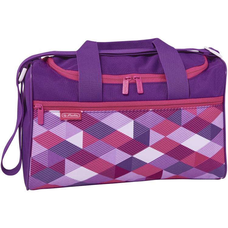 Herlitz Sporttas Pink Cubes