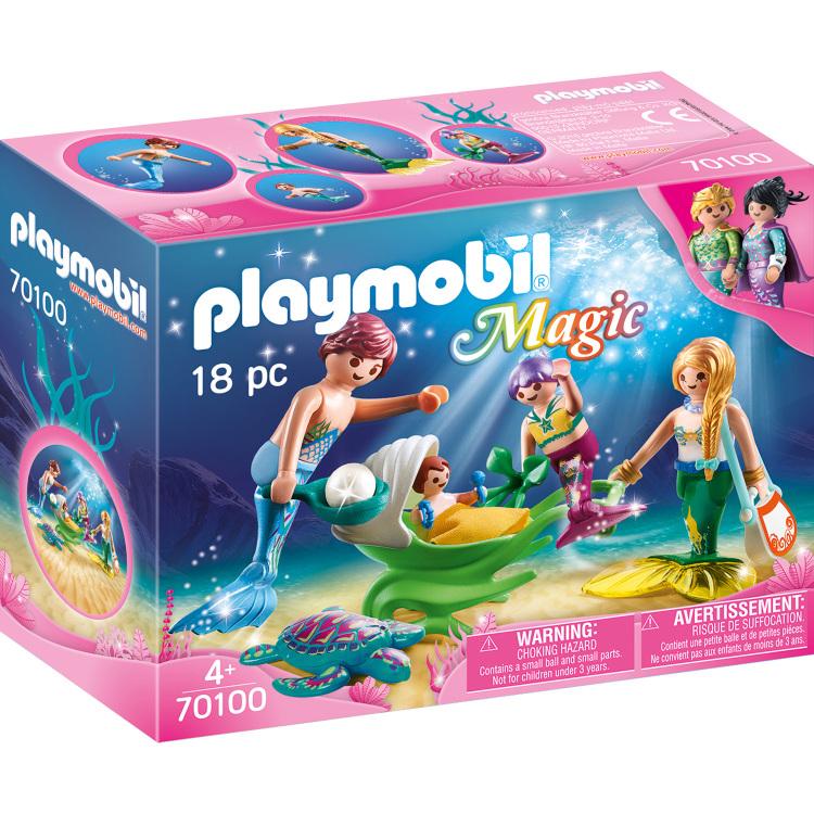 PLAYMOBIL Magic - Meerminnenfamilie 70100