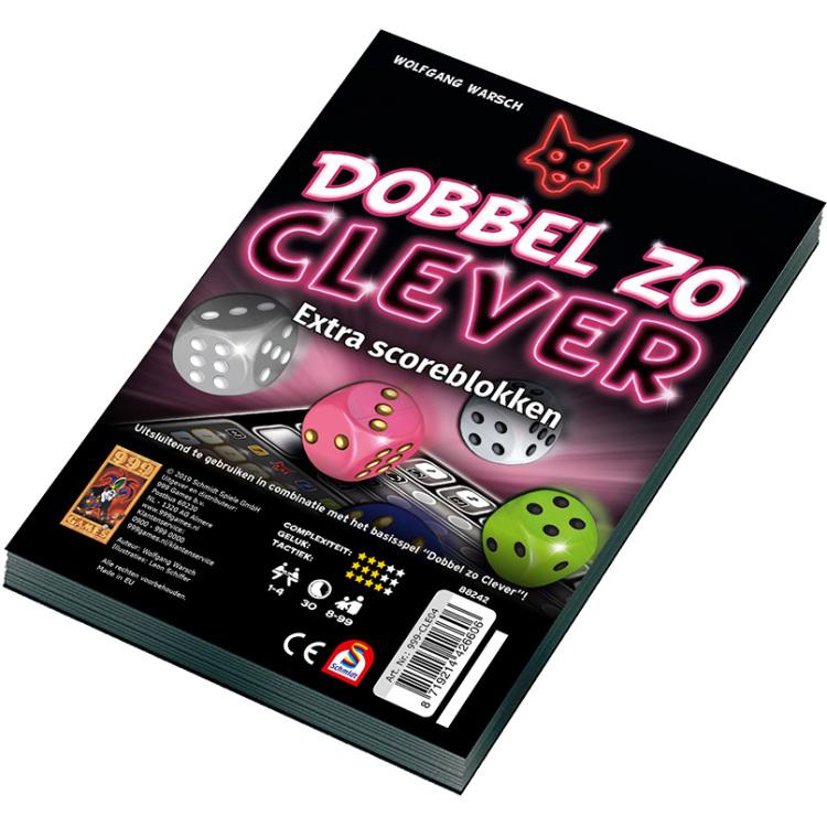 999 Games Dobbel zo Clever Scoreblok 2 stuks