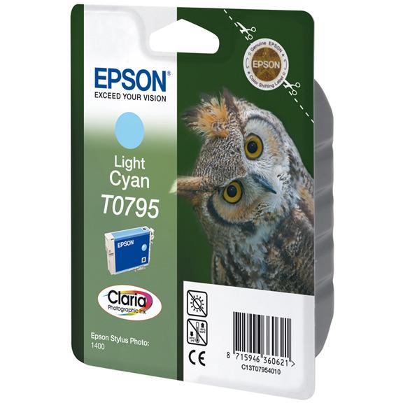 Epson T0795 Ink Cartridge Light Cyan (licht blauw)