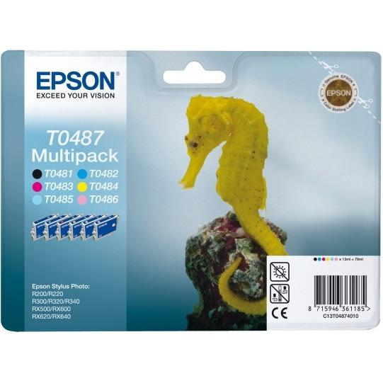 Epson Pak van 6 inktpatronen »T0487«