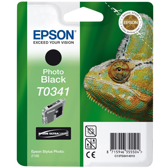 Epson T0341 - Inktcartridge Zwart