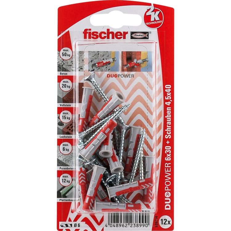 fischer Dübel DUOPOWER 6X30 S K DE plug