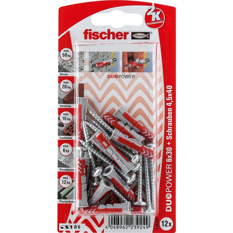 fischer Dübel DUOPOWER 6X30 S PH K DE plug