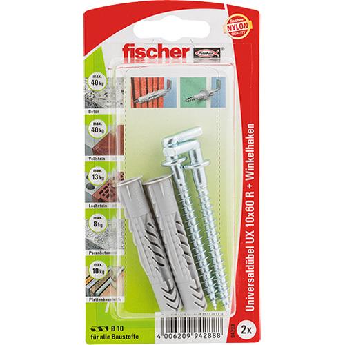 fischer UX 10x60 R WH K DE plug