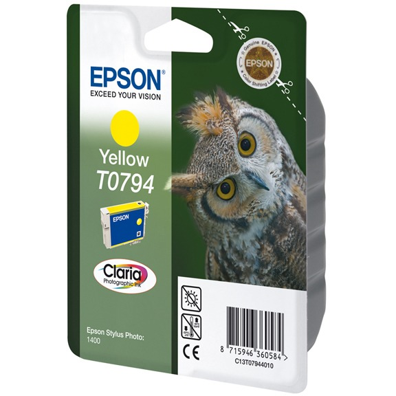 Epson T0794 Ink Cartridge Yellow (geel)