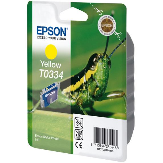 Epson T0334 - Inktcartridge / Geel