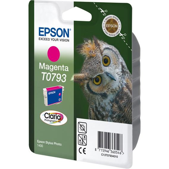 Epson T0793 Ink Cartridge Magenta (rood)
