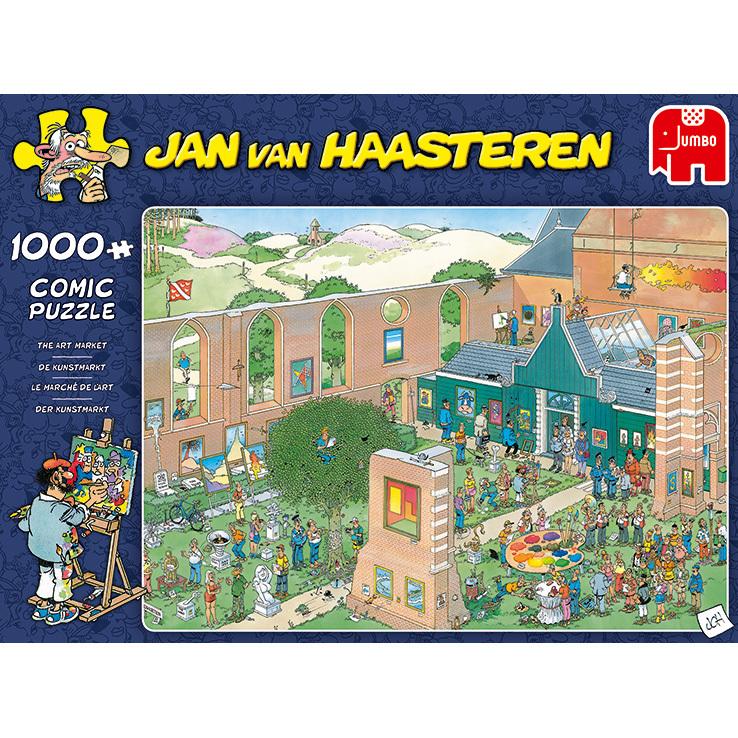Alternate-Jumbo Jan van Haasteren - De Kunstmarkt puzzel 1000 stukjes-aanbieding