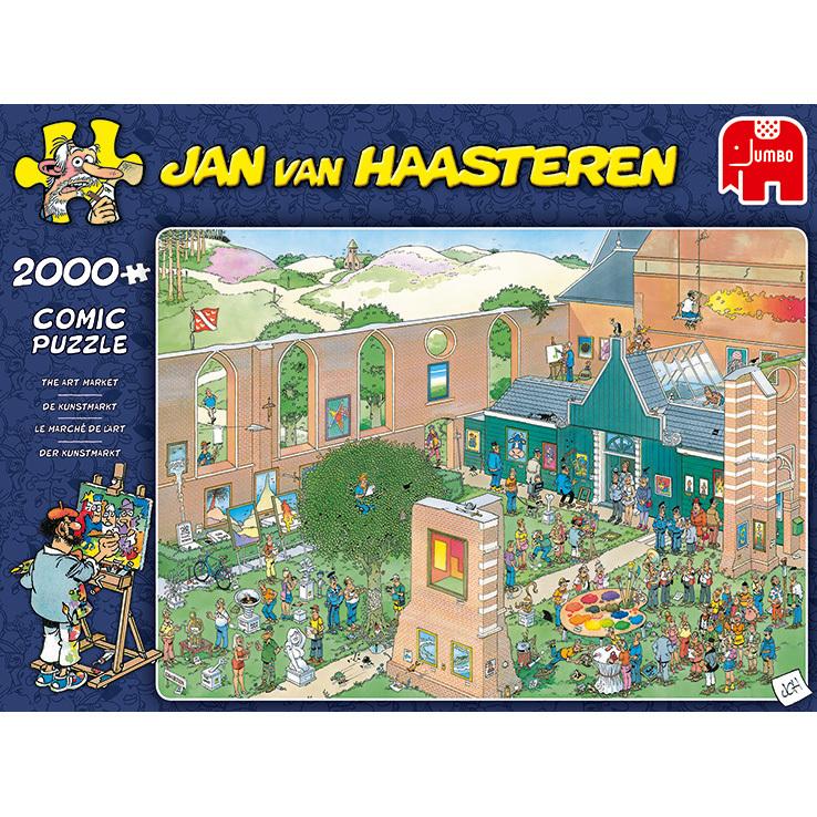 Alternate-Jumbo Jan van Haasteren - De Kunstmarkt puzzel 2000 stukjes-aanbieding
