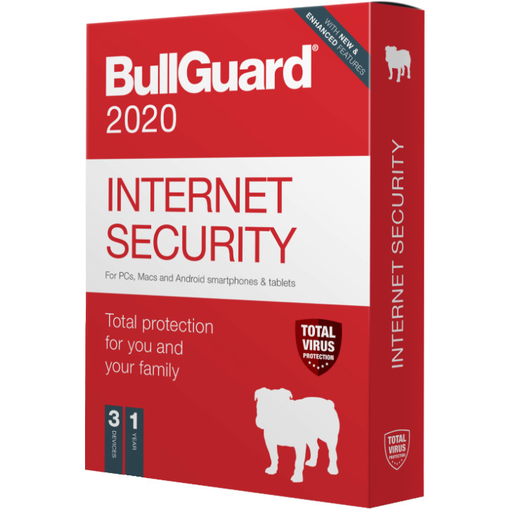 BullGuard Internet Security 2020 Editie software 1 jaar, 3 apparaten