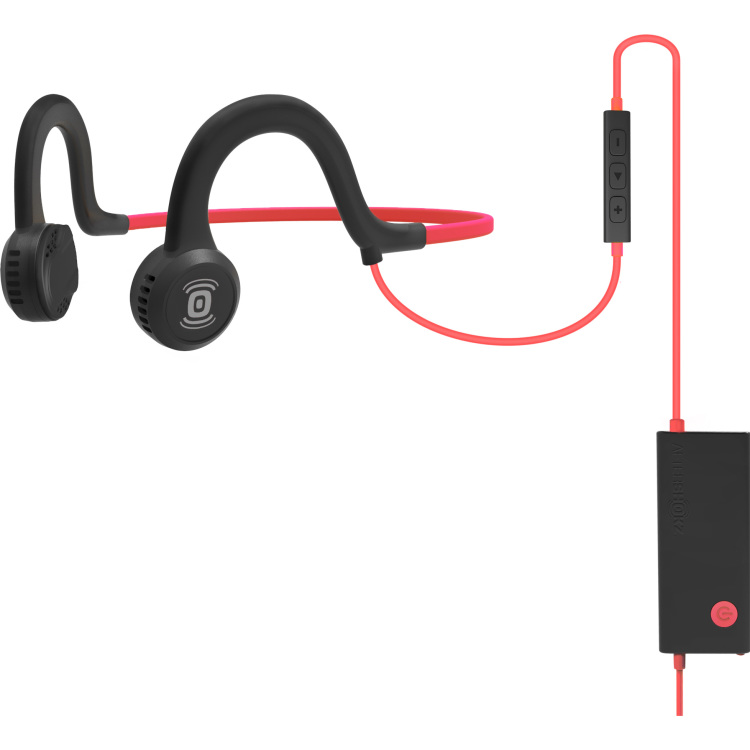 Aftershokz Sportz Titanium with mic Lava Red headset