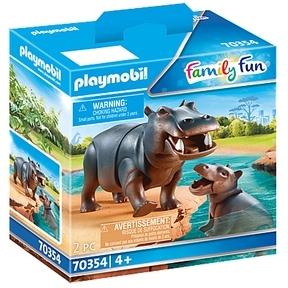 PLAYMOBIL Family Fun - Nijlpaard met baby 70354