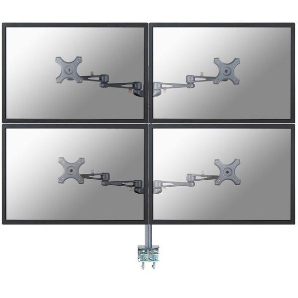 """Image of 4-voudig Monitor-tafelbeugel 25,4 cm (10"""") - 68,6 cm (27"""") Kantelbaar en zwenkbaar, Roteerbaar NewStar Products FPMA-D935D4"""