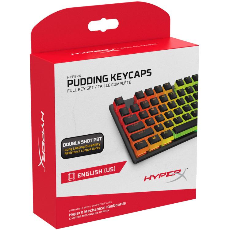 HyperX Pudding Keycaps Full Key Set (Black PBT)