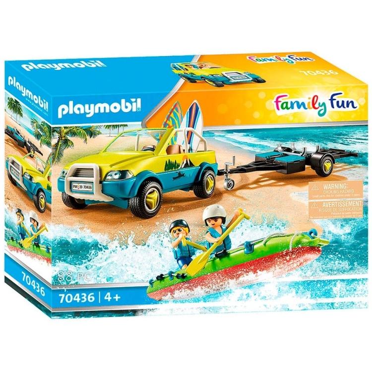 PLAYMOBIL Family Fun - Strandwagen met kano's 70436