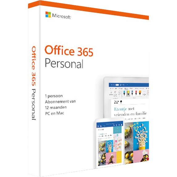 Microsoft 365 Personal, 1 jaar software Nederlands