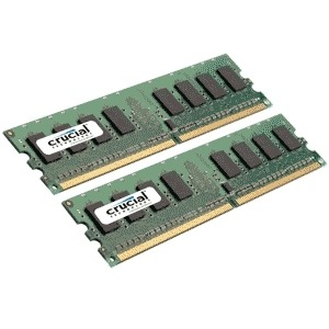 Image of Crucial 4GB DDR2 800MHz KIT CL6 PC2-6400 / UDIMM 240pin / 2x