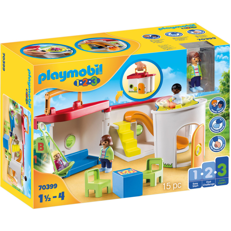 Alternate-PLAYMOBIL 1.2.3 - Mijn meeneem kinderdagverblijf 70399-aanbieding