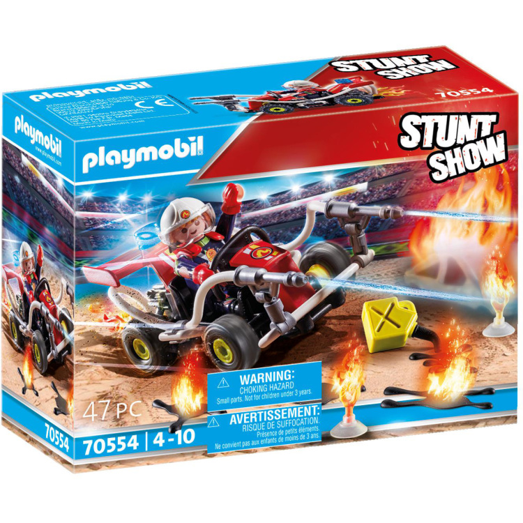 PLAYMOBIL Stuntshow - Brandweerkart 70554