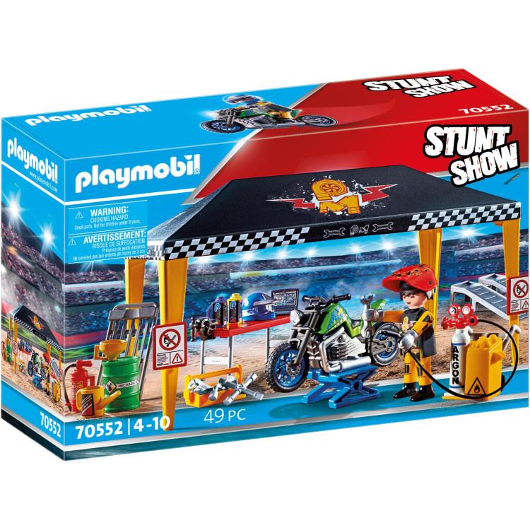 PLAYMOBIL Stuntshow - Werkplek tent 70552