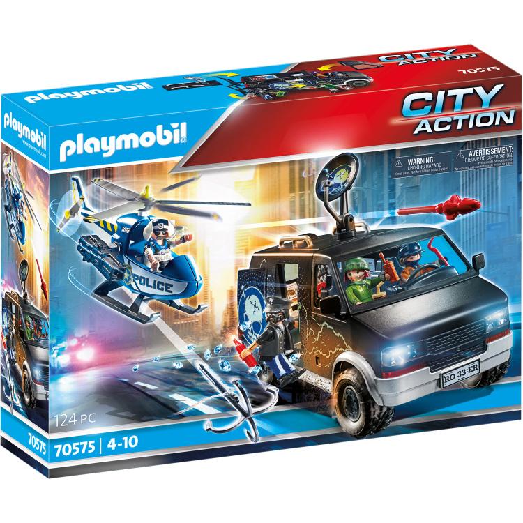 Alternate-PLAYMOBIL City Action - Politiehelikopter: achtervolging van het vluchtvoertuig 70575-aanbieding