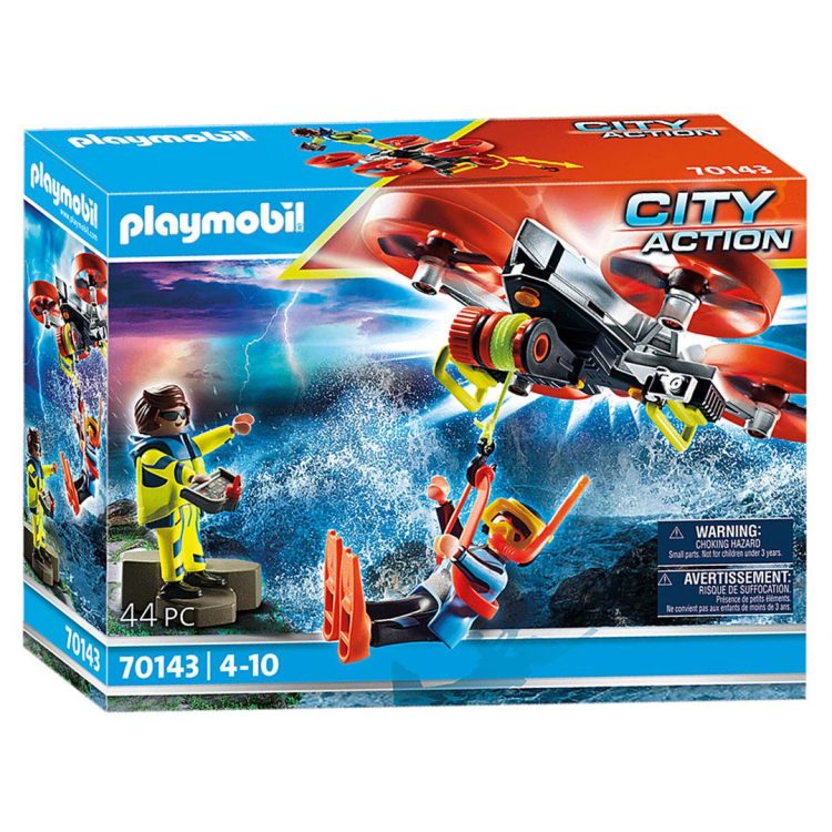 Alternate-PLAYMOBIL City Action - Reddingsduiker met reddingsdrone 70143-aanbieding