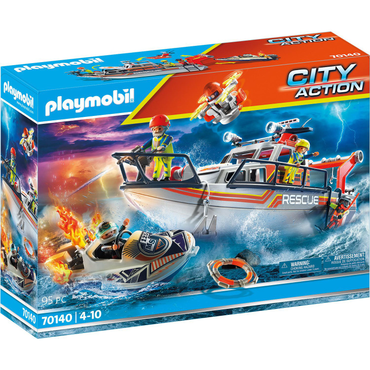 Alternate-PLAYMOBIL City Action - Brandbestrijdingsmissie met reddingscruiser 70140-aanbieding