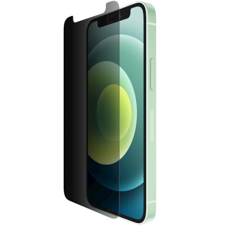 Belkin SCREENFORCE TemperedGlass antimicrobiële Privacy-screenprotector voor iPhone 12 Mini beschermfolie
