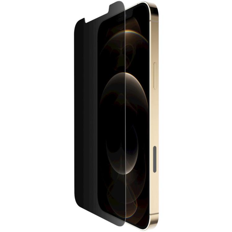 Belkin SCREENFORCE TemperedGlass antimicrobiële Privacy-screenprotector voor iPhone 12 Pro Max beschermfolie