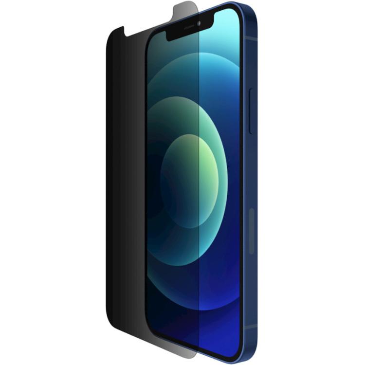 Belkin SCREENFORCE TemperedGlass antimicrobiële Privacy-screenprotector voor iPhone 12/12 Pro beschermfolie