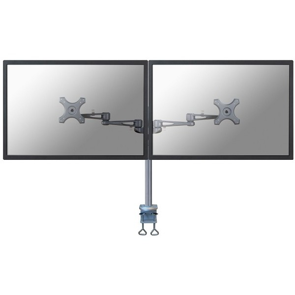 """Image of 2-voudig Monitor-tafelbeugel 25,4 cm (10"""") - 68,6 cm (27"""") Kantelbaar en zwenkbaar, Roteerbaar NewStar Products FPMA-D935D In hoogte verstelbaar"""