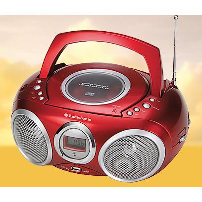 AudioSonic CD-570 Draagbare radio Rood