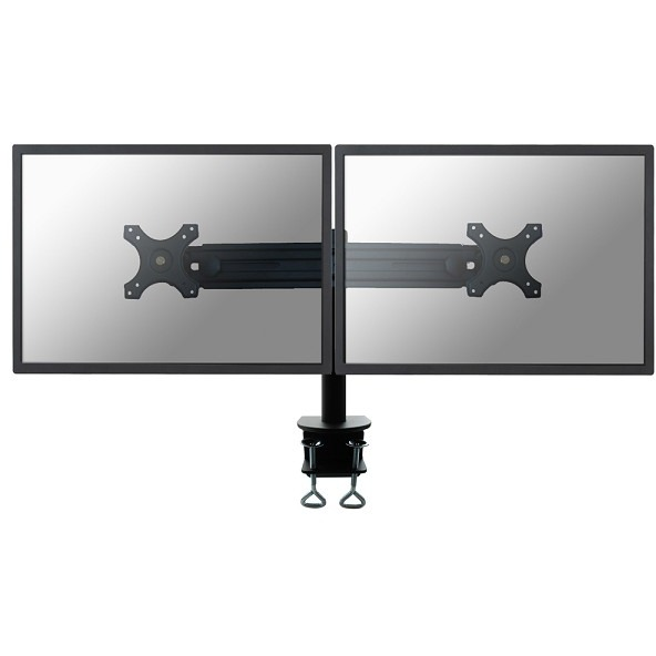 """Image of 2-voudig Monitor-tafelbeugel 48,3 cm (19"""") - 76,2 cm (30"""") Kantelbaar en zwenkbaar, Roteerbaar NewStar Products FPMA-D700D In hoogte verstelbaar"""