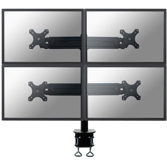 """Image of 4-voudig Monitor-tafelbeugel 48,3 cm (19"""") - 76,2 cm (30"""") Kantelbaar en zwenkbaar, Roteerbaar NewStar Products FPMA-D700D4 In hoogte verstelbaar"""
