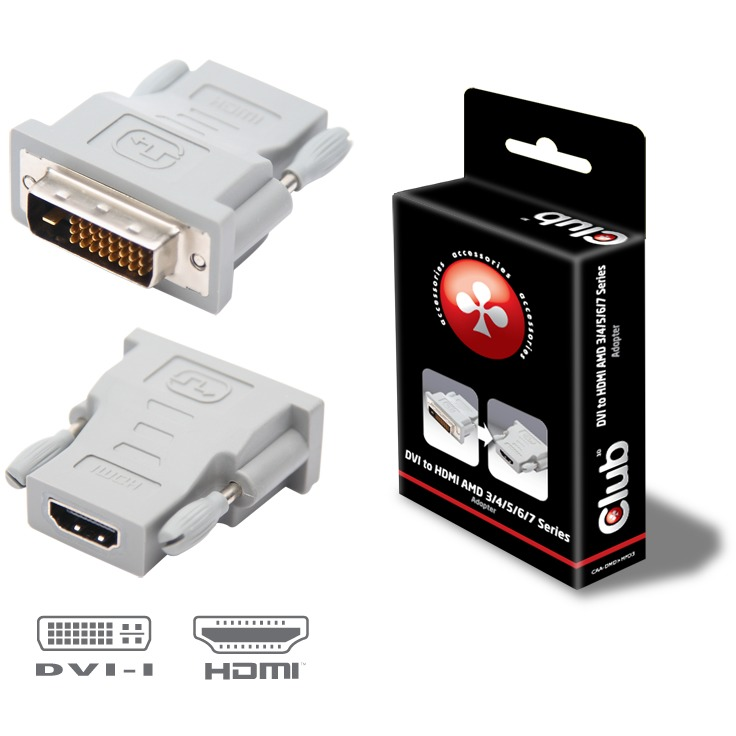 CLUB3D DVI to HDMI Adapter