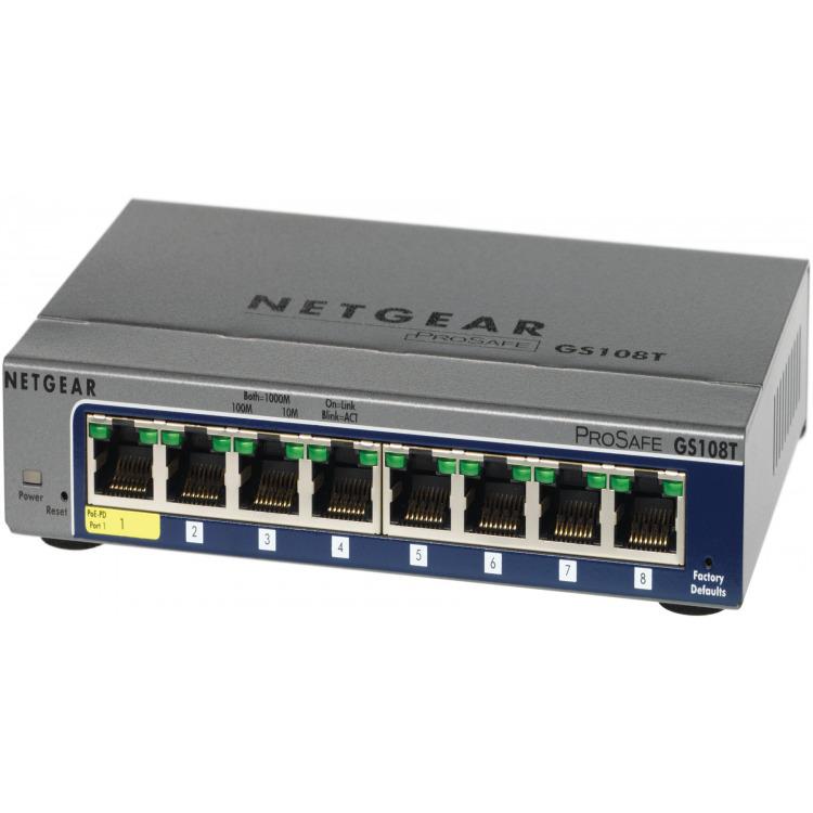 Netgear GS108Tv2 8-Poorts PoE Smart Switch