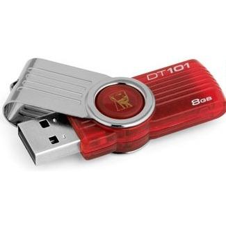 Kingston DataTraveler 101 G2 8GB red - USB 2.0 Geheugenstick