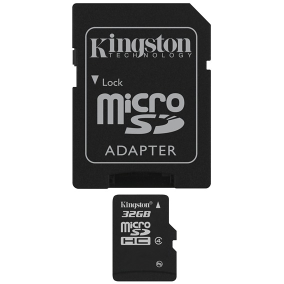 KINGSTON Micro SD C4 32GB inclusief SD adapter
