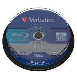 Verbatim BD-R SL 25GB 6x 10pk (43742)
