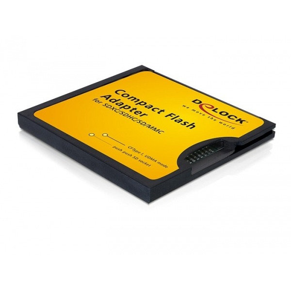 DeLOCK Compact Flash Adapter f. SD SDHC SDXC Kaart 61796