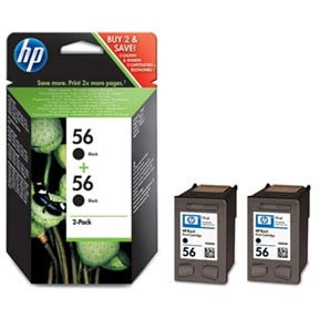 Image of 56 zwarte inktcartridges, dubbelpak (C9502AE)