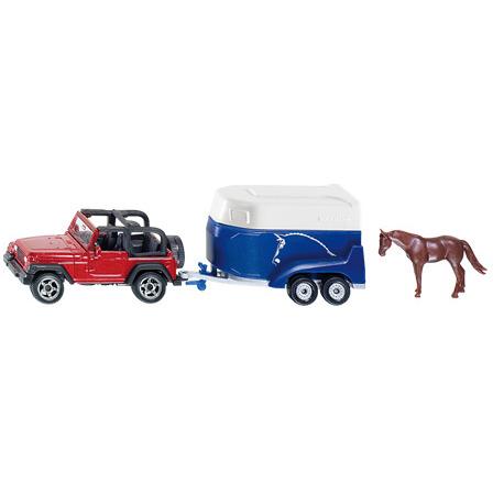 Jeep Siku Met Paardentrailer